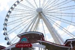 The Great Smoky Mountain Wheel at the Island in Pigeon Forge promises to bring visitors beautiful ariel views of the Pigeon Forge Parkway.