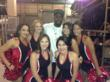 Dez poses with the Cheerleaders