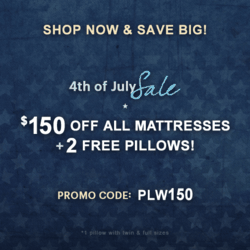 Astrabeds Announces Latex Mattress Sale for July 4th