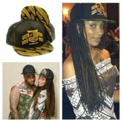 Dutchess Latimore and Ceaser Emmanuel of Black Ink in Flat Fitty's Gold Leaf and #LUX