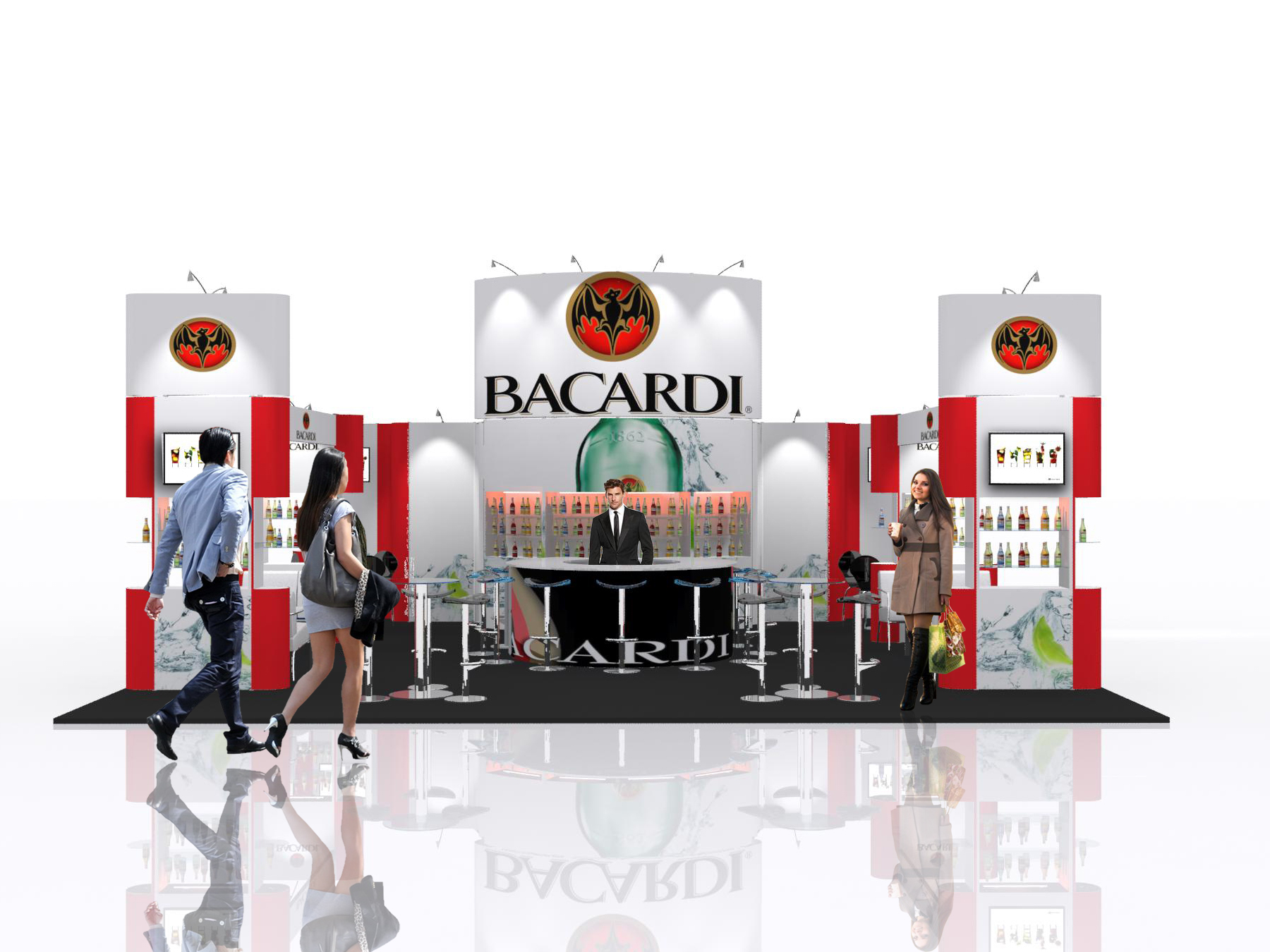 New Exhibition Stand Design : Launch of new exhibition stand design library with