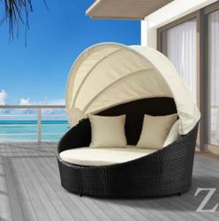 Colva Canopy Bed Zuo Modern 701158