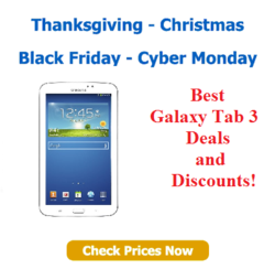 Black Friday Samsung Galaxy Tab 3 - Cyber monday Tab 3 Deals