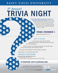SLU School for Professional Studies Trivia Night is November 1, 2013