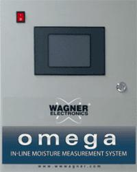 Wagner's Omega In-line Moisture Measurement System with kiln drying analysis software