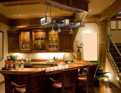 Homethangs has introduced a guide to themed bar lights elk lighting napa 6 light chandelier in matt blackwood grain finish 15062 aloadofball Images