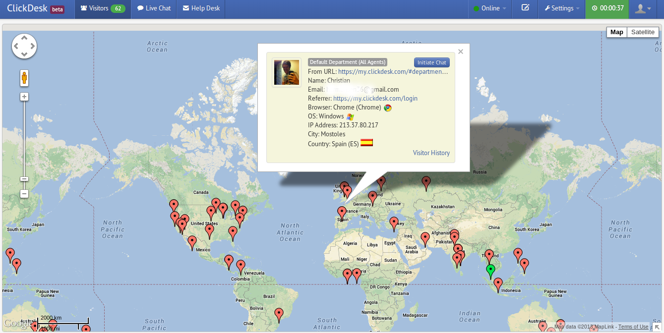 ClickDesk Adds Real-time Visitor Tracking Feature to Web Chat on