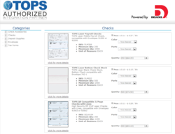 Deluxe Storefront for TOPS Compatible Checks and Business Forms