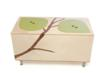 Mod Mom Furniture's toy boxes and other furniture items have attracted a steadily growing customer following including families, interior designers and celebrities. Pictured here is the Owyn Toy Box.