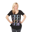In celebration of the 50th Anniversary of Doctor Who, Eckstein designed this new fashion top featuring the profiles of all 11 Doctors - available at Comic-Con and online.