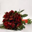 Red Toss Away Bouquet