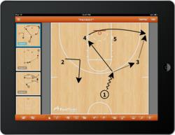 Basketball play diagramming app