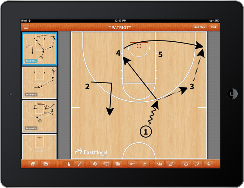 Fastmodel Sports Launches Basketball Playbook App  Coaches Can Draw Plays And Access Their