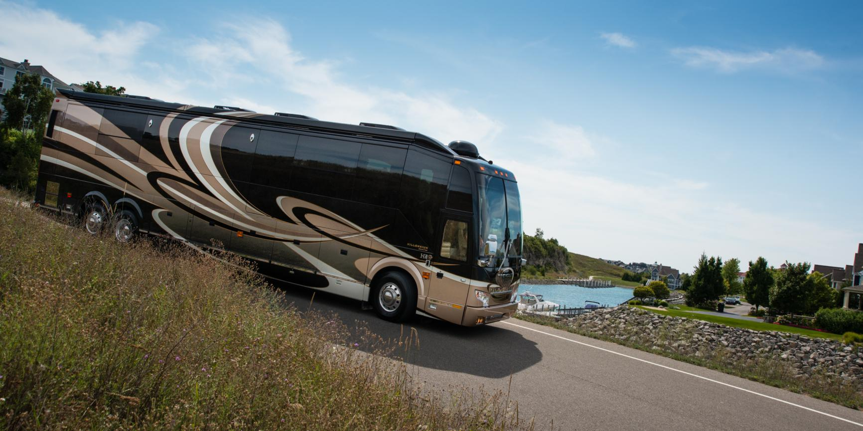 Million dollar high tech rv builder millennium luxury for Million dollar motor coaches