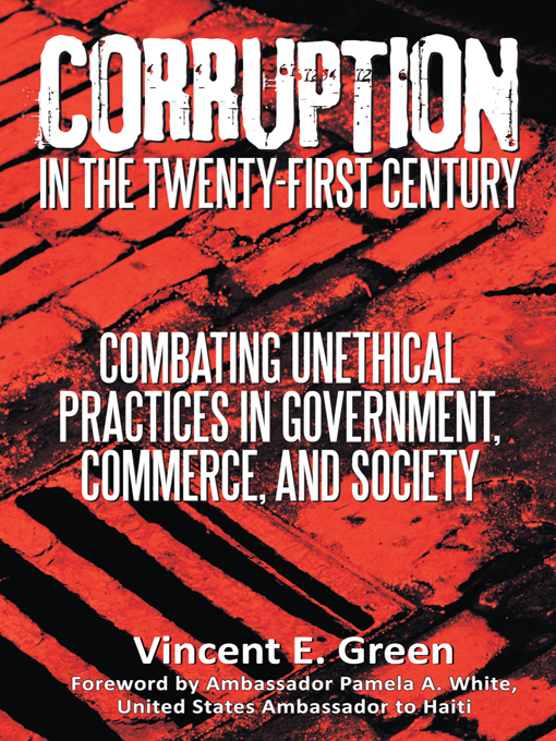 author vincent e  green takes a stand against corruption