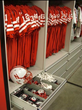 football equipment storage on mobile shelving