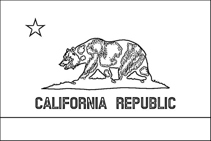 Purple kitty announces the addition of new coloring pages for California flag coloring page