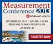 Dorland Health's 2013 Measurement Conference Announces Featured...