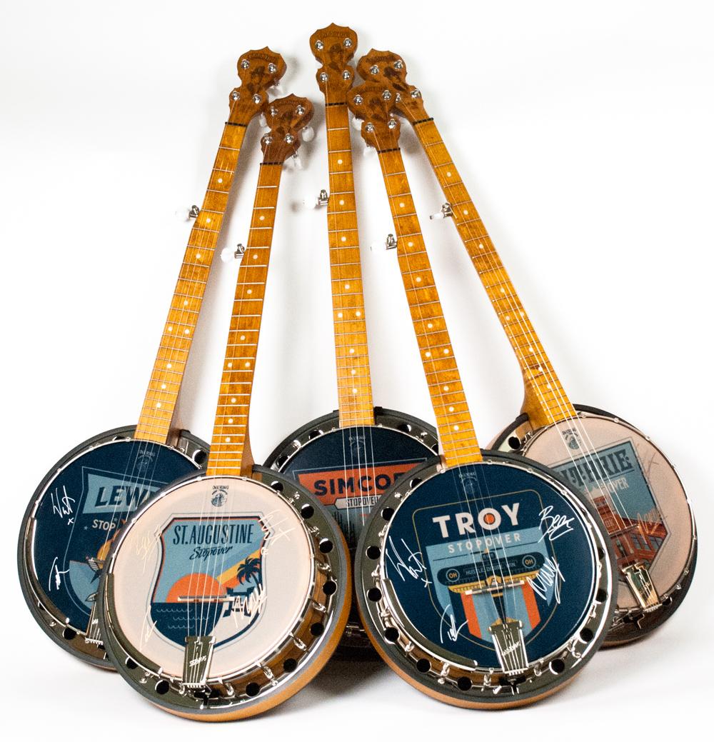 Deering 'Gentlemen Of The Road' Banjo Charity Auction