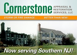 Cornerstone Appraisals & Restoration Now Serving Southern NJ