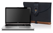 Laptop SleeveCase—in leather trim option, with laptop