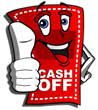 Less expensive than the daily deal sites and much more viral! That's CashOff