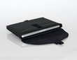 Laptop SleeveCase—with optional Flap, open with laptop inside