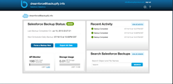 Backupify for Salesforce.com dashboard