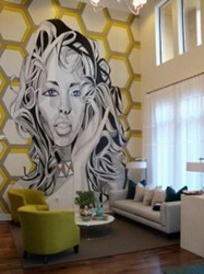 Award winning interiors by BHID and Mural by artist Andrew Spear
