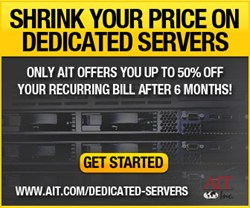 AIT Reduces Pricing on Dedicated Servers By Up To 50%