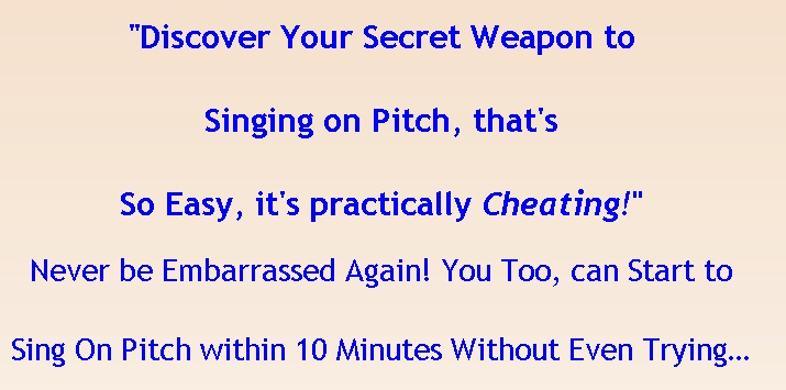 PitchPerfector(TM) - Learn to Sing on Pitch in 10 Minutes ...