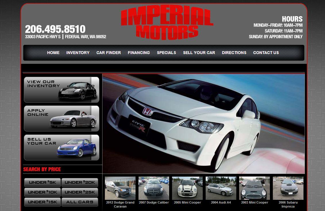 Imperial motors a federal way washington auto dealer for Law motors sioux falls sd