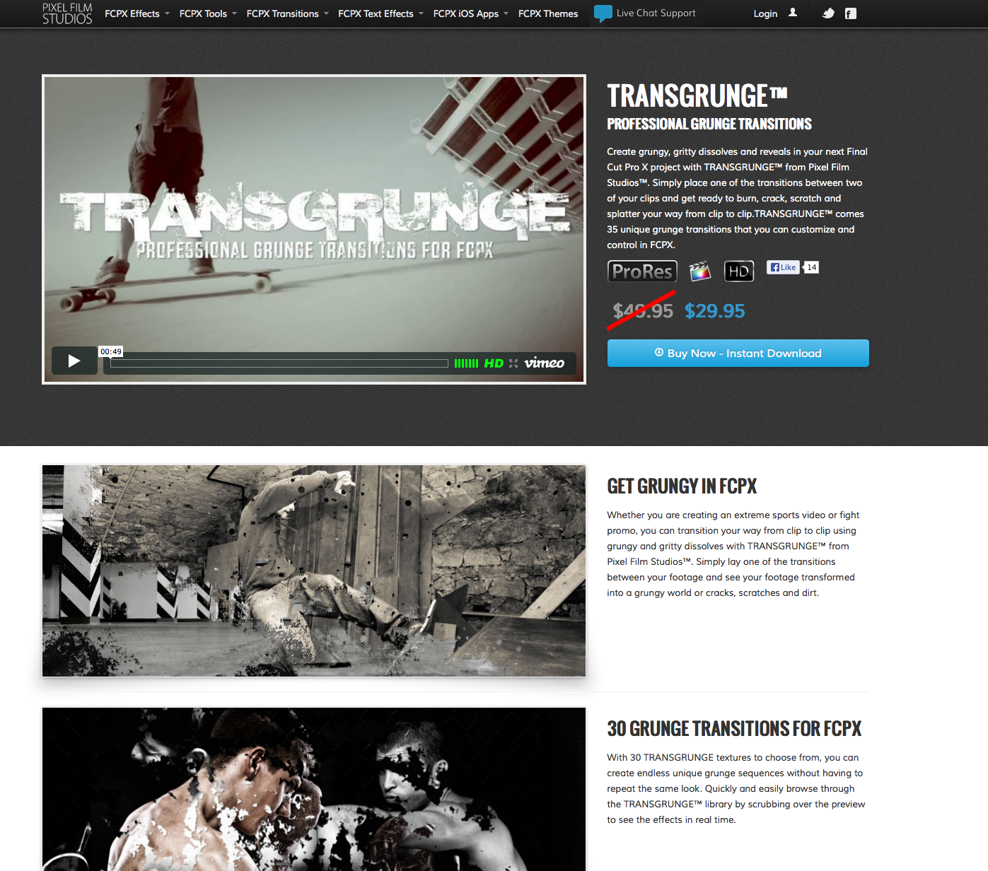 Pixel Film Studios Releases TransGrunge Transition Pack for