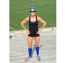 Electric Blue Zensah Compression Socks