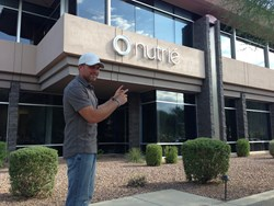 Nutrie founder Aaron Parkinson outside new Scottsdale Offices