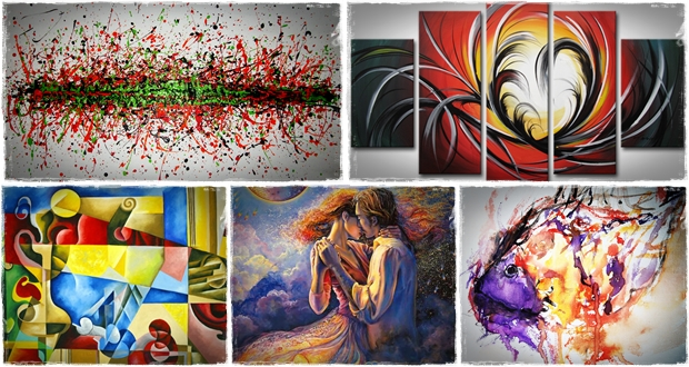 Abstract painting ideas car interior design for Abstract mural ideas