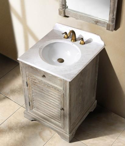 homethangs has introduced a guide to aged wood bathroom vanities
