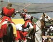 Knights jousting add to the energy of the  at Bristol Renaissance Faire in Wisconsin.