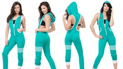 CCR Brand Jumpsuit - Green With Cutouts