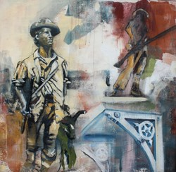 Painting of Concord Minuteman