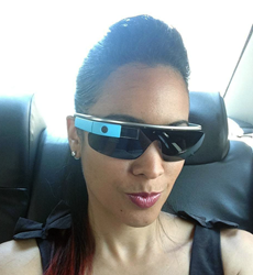 Melissa B wearing google glass