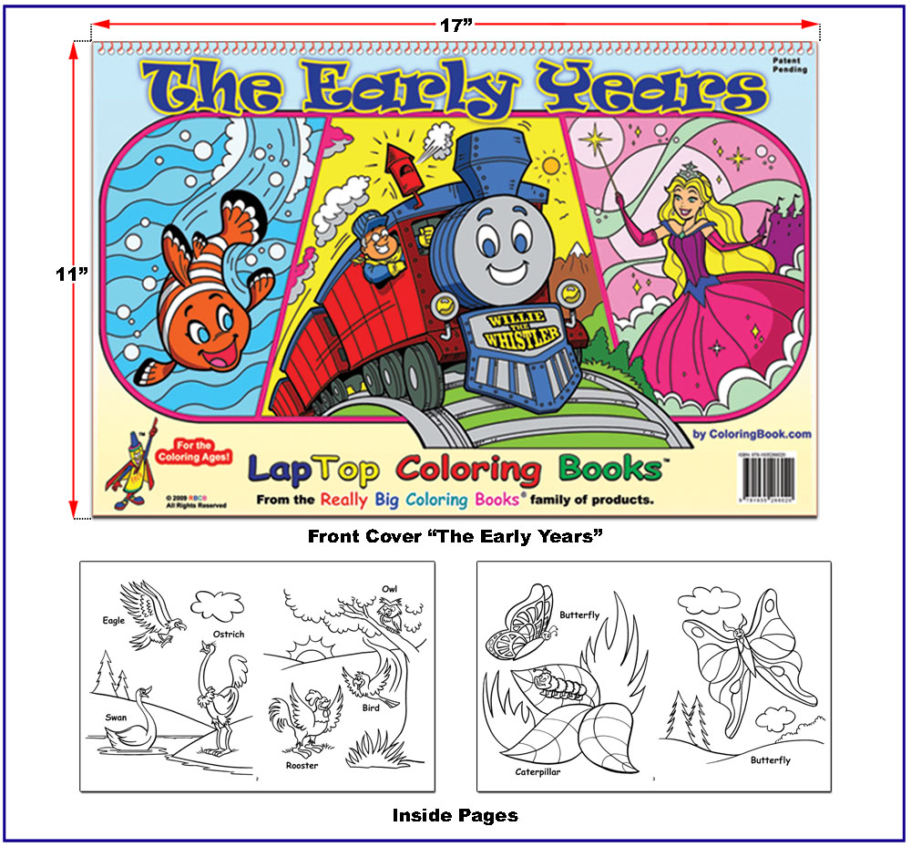 early learning and coloring books: