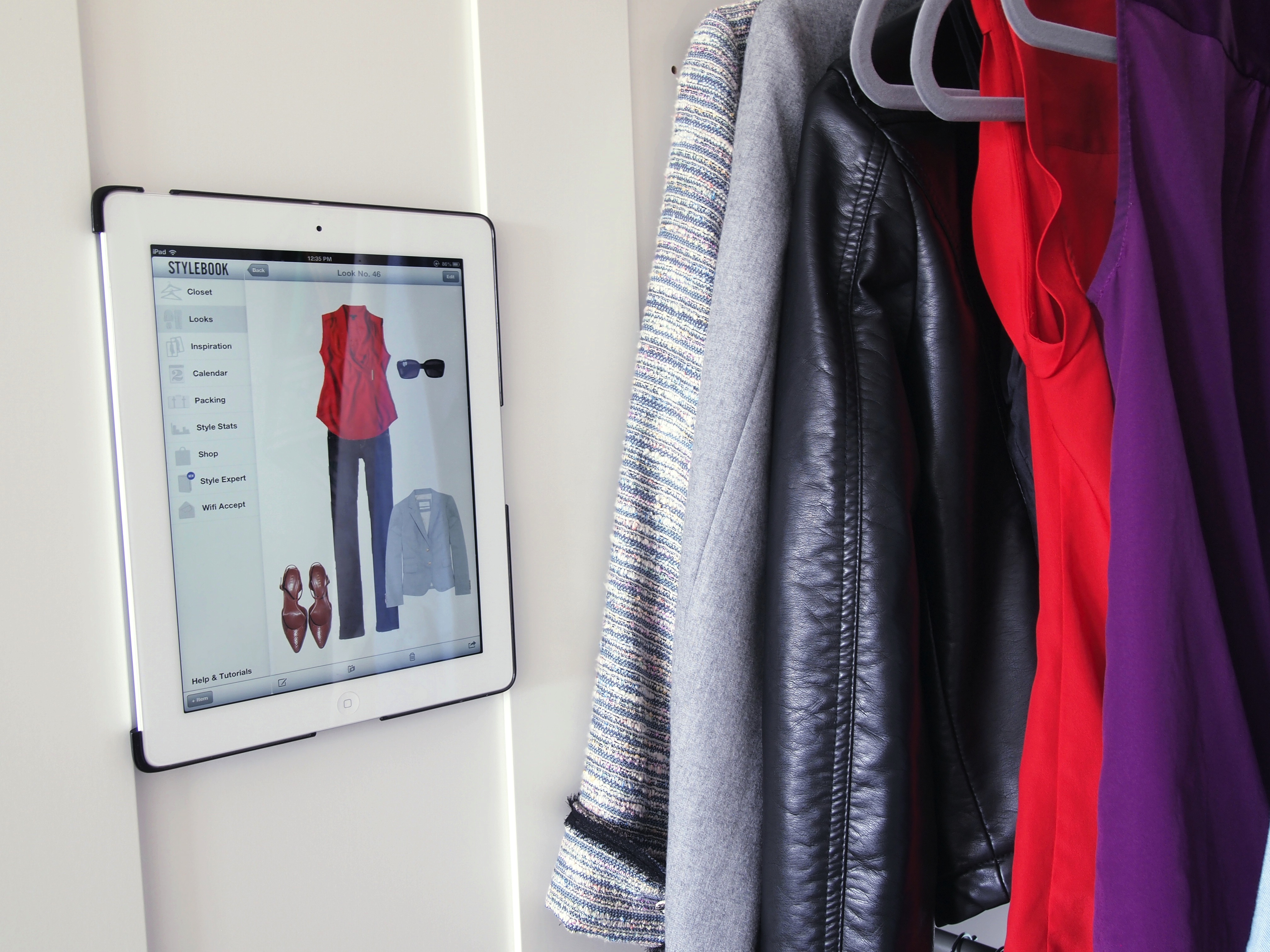 the smart closet  stylebook digital closet arrives in your