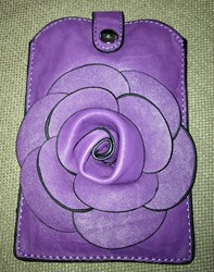 Lil Flower ~ Wristlet Or Cross Body Cell Phone Purse