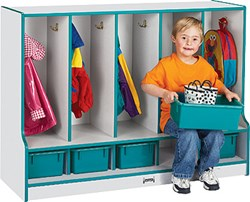 wood toddler locker