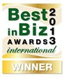 BiBA 2013 International gold winner logo