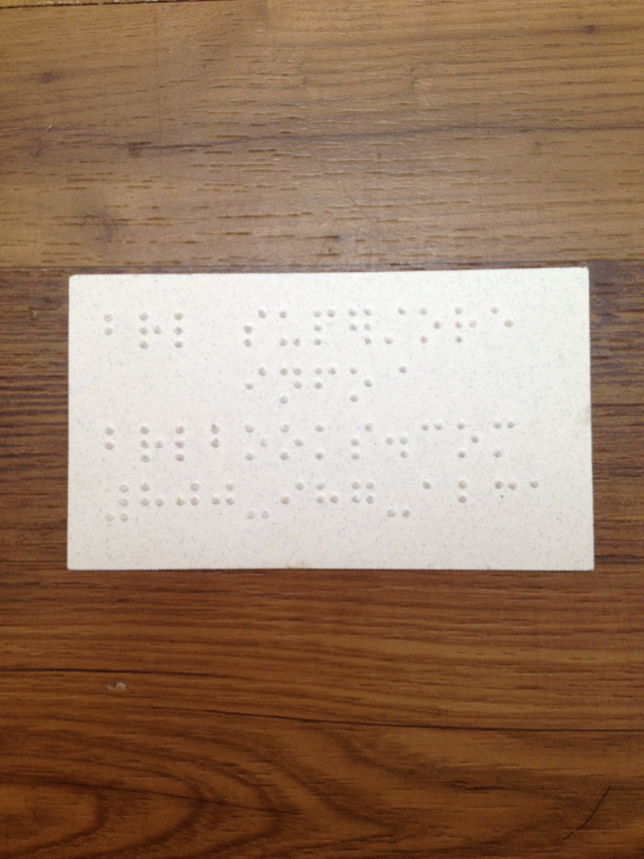 BrailleBookstore.com Now Offering Braille Business Cards