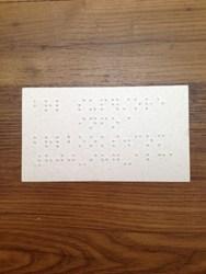 Braillebookstore now offering braille business cards braille business card reheart Choice Image