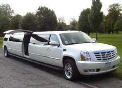 CT Cadillac Escalade Limousine with LEAR Jet-Door