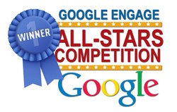 the logo for the winner of the google engage all-stars competition